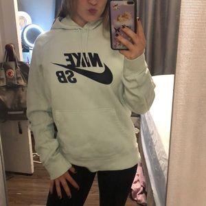 nike skateboarding mint hoodie